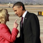 Brewer gives Obama the finger