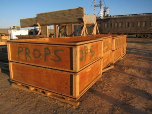 Props Delivery on The Lone Ranger Set