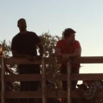 2 Guns Wahlberg and Washington on NM Set
