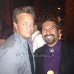 Go On star Matthew Perry with The After After Party and Duke City star Steven Michael Quezada