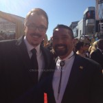 Breaking Bad's Vince Gilligan and Steven Michael Quezada at the 2012 Emmy Awards