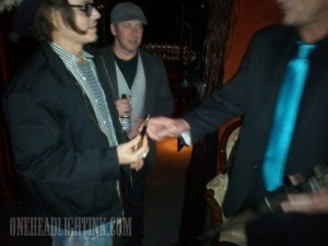 Johnny Depp and Jackamoe Buzzell at Vernon's Steakhouse NM