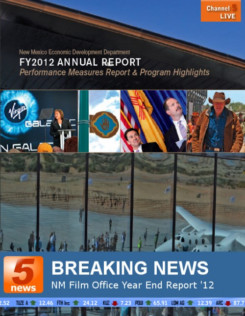 NEW MEXICO ECONOMIC DEVELOPMENT DEPARTMENT ANNUAL REPORT 2012