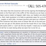 Quezada Call to Action - Breaking Bad Fan Explains what the bill means for NM on the national stage