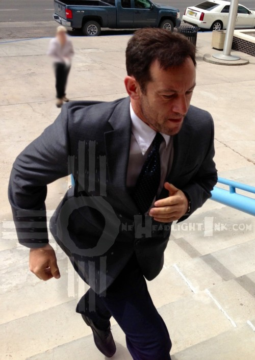 Jason Isaacs on location in New Mexico