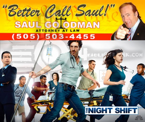 Breaking Bad Spin-off NBC Series Night Shift NMFilm