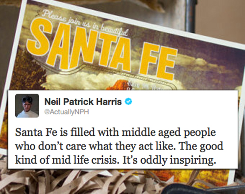 Neil Patrick Harris Tweets on Santa Fe