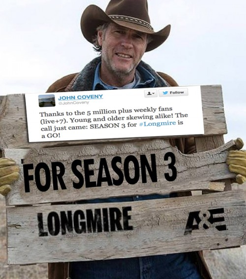 Longmire Season 3 is a Go