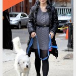 Olivia Wilde and her recue dog Paco