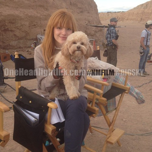 Bella Thorne Instagram on NMFilm set