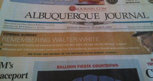 Walter White Obit Re-run