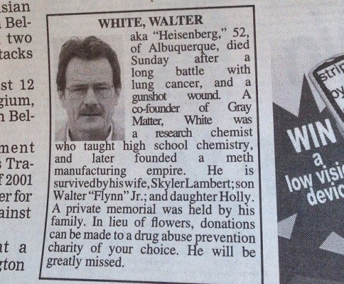 Walter White Obiturary Albuquerque Journal
