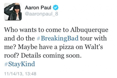 Aaron Paul Albuquerque Tour
