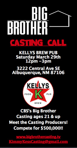 Big Brother Casting in Albuquerque New Mexico