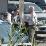 September 23 2009 Aaron Paul an Bryan Cranston on location in Albuquerque