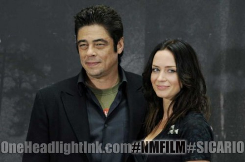 Emily Blunt Benicio del toro starring in Sicaro will film in New Mexico